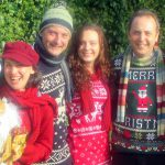 Our Carollers often perform requested in Christmas jumpers